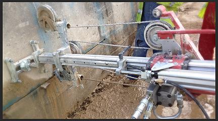 оборудование для резки бетона алмазным канатом купить